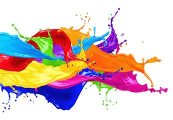 Eine Grafik mit sprudelnden Farben