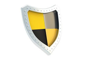 Robust Ein Ritterschild mit Wappen