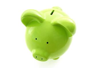 Günstige Preise Ein grünes Sparschwein