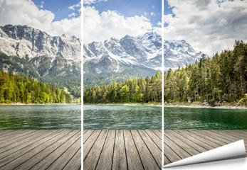 Fototapete Berge und See