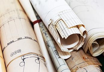 alte Baupläne und Bauzeichnungen