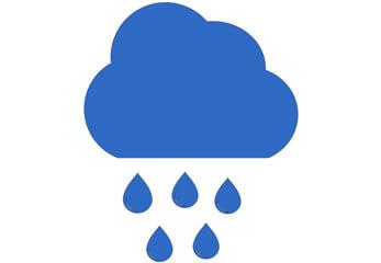 Eine blaue Regenwolke