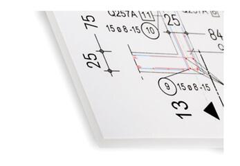 CAD Zeichnung laminiert