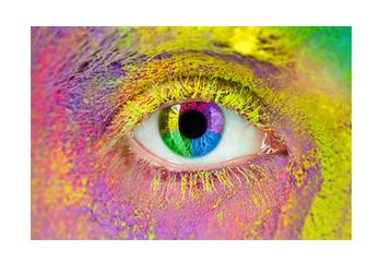 Eine künstlerische Grafik von einem Auge