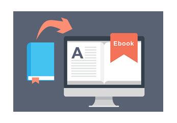 Computergarfik mit analogem und digitalem Buch