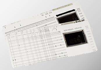 aufgefächerte Mikrofilmkarten