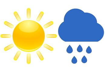 Sonnenschein und Regenwolke